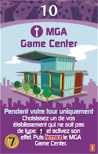 Minivilles, Extension 5/6 Joueurs, carte MGA © Moonster Games