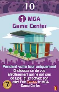 Minivilles, Extension 5/6 Joueurs, carte MGA © Moonster Games