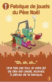 Minivilles, Extension 5/6 Joueurs, carte la Fabrique du Père Noël © Moonster Games