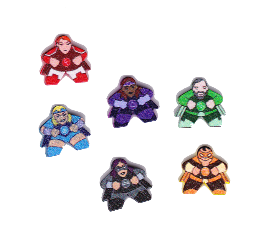 Mint Cooperative, l'équipe des Supers Héros © Lucky Duck Games