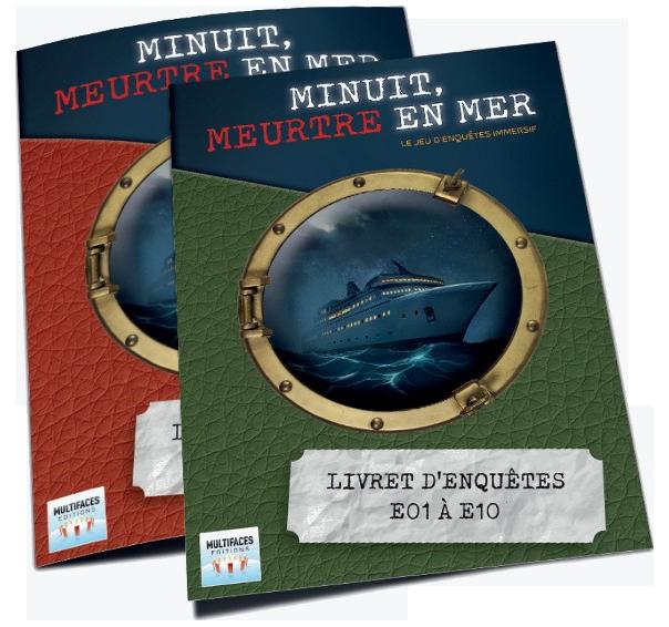 Minuit Meurtre en Mer, les deux livrets d'enquête © Multifaces Editions