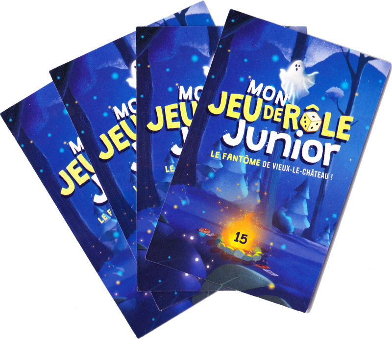 Mon Jeu de Rôle Junior, le Fantôme de Vieux-le-Château, le dos des cartes © 404 Editions