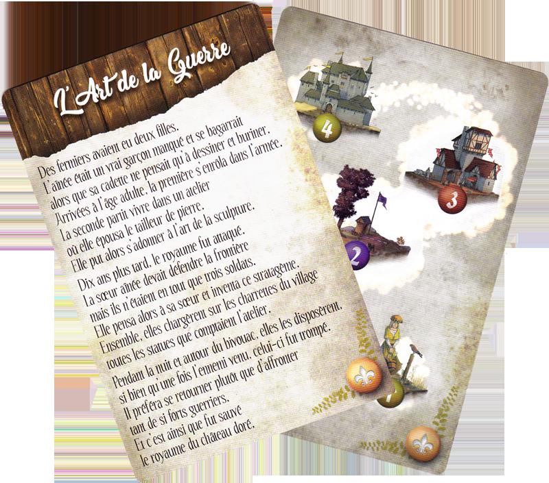 Mon Royaume Pour Un Conte, carte Conte, recto & verso ©  Sweet Games