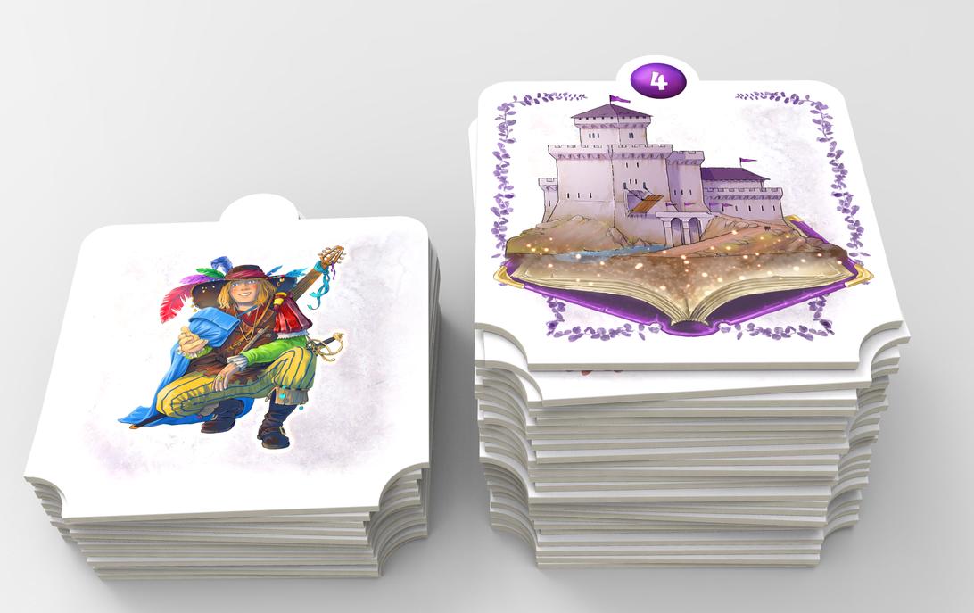 Mon Royaume Pour Un Conte, tuiles Royaume ©  Sweet Games