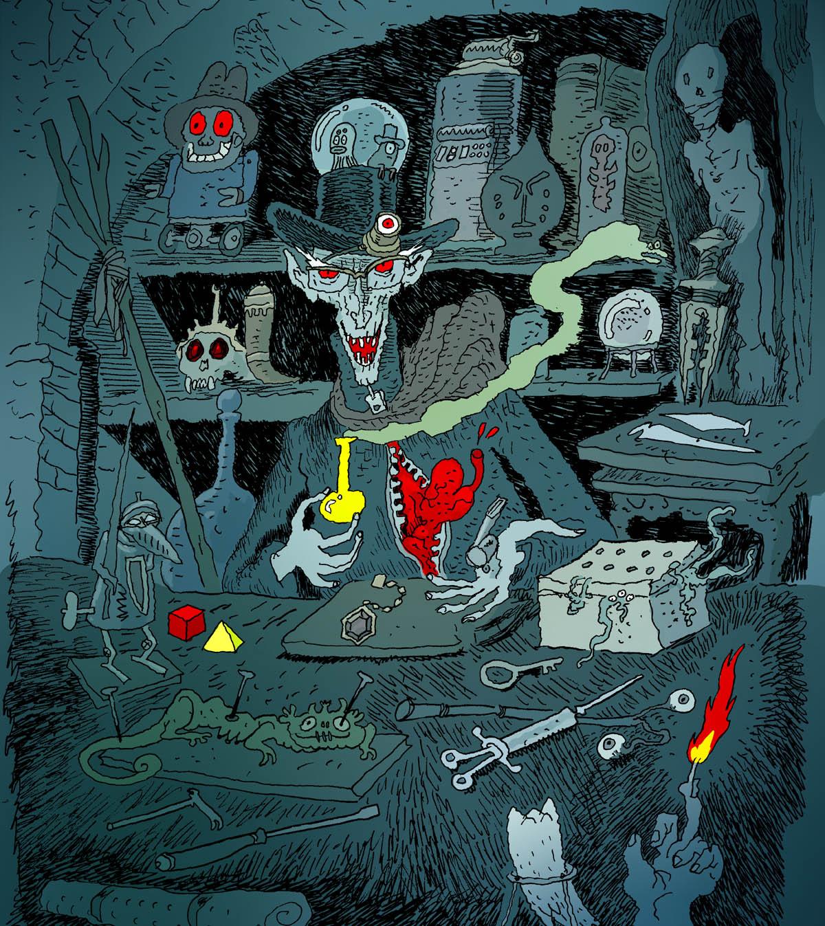 Monstres - Initiation au jeu d'Aventures, visuel © Black Book / Sfar / Bernasconi / Lhomme