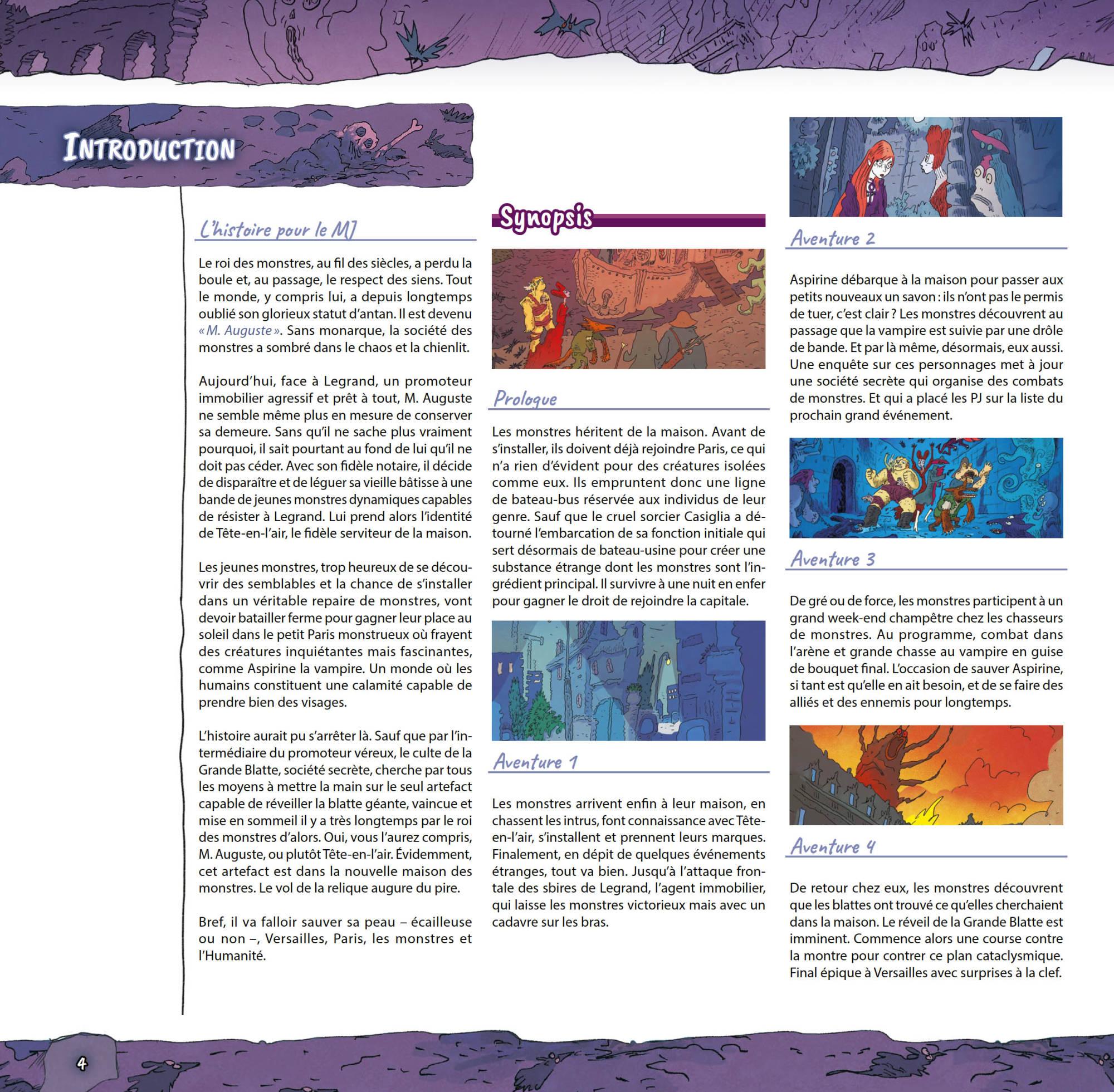 Monstres - Initiation au jeu d'Aventures, intro à la campagne © Black Book / Sfar / Bernasconi / Lhomme