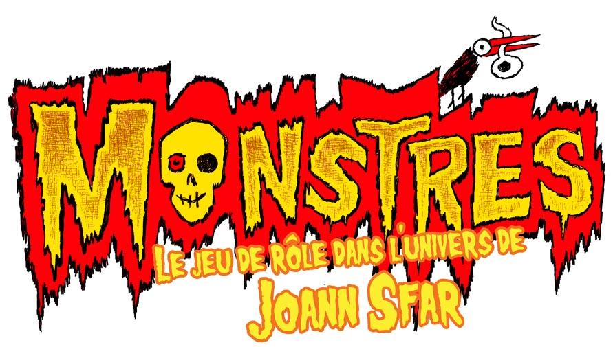 Monstres - Initiation au jeu d'Aventures, le logo © Black Book / Sfar / Bernasconi / Lhomme