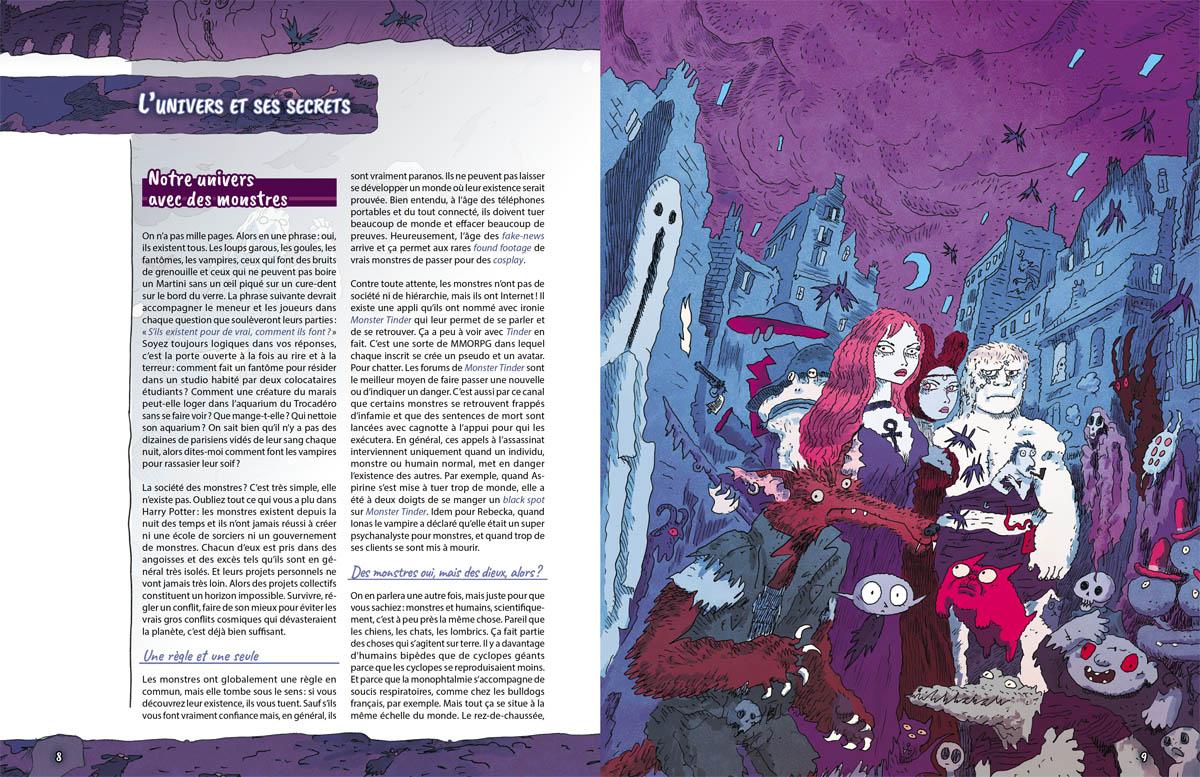 Monstres - Initiation au jeu d'Aventures, la maquette  © Black Book / Sfar / Bernasconi / Lhomme