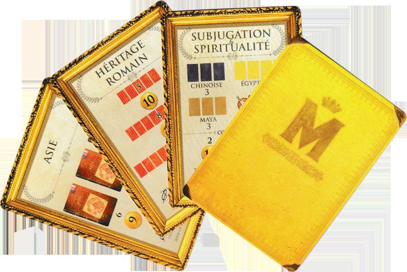 Museum, cartes Mécènes © Holy Grail Games / Dutrait / Dubus / Mélison