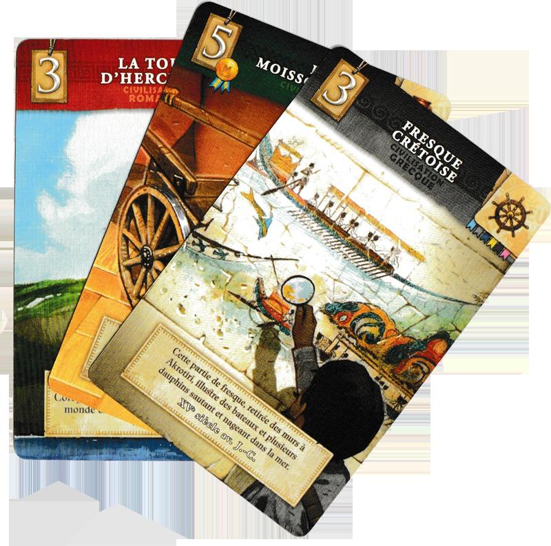 Museum, cartes Objet © Holy Grail Games / Dutrait / Dubus / Mélison