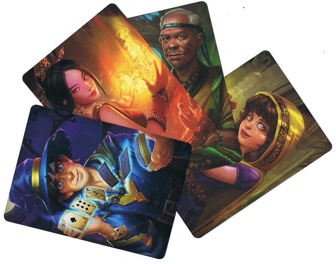 Mystic ScROLLS, quatre concurrents prêts à tout... © Asmodée