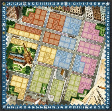 New York 1901, le plateau © Blue Orange Games / Dutrait