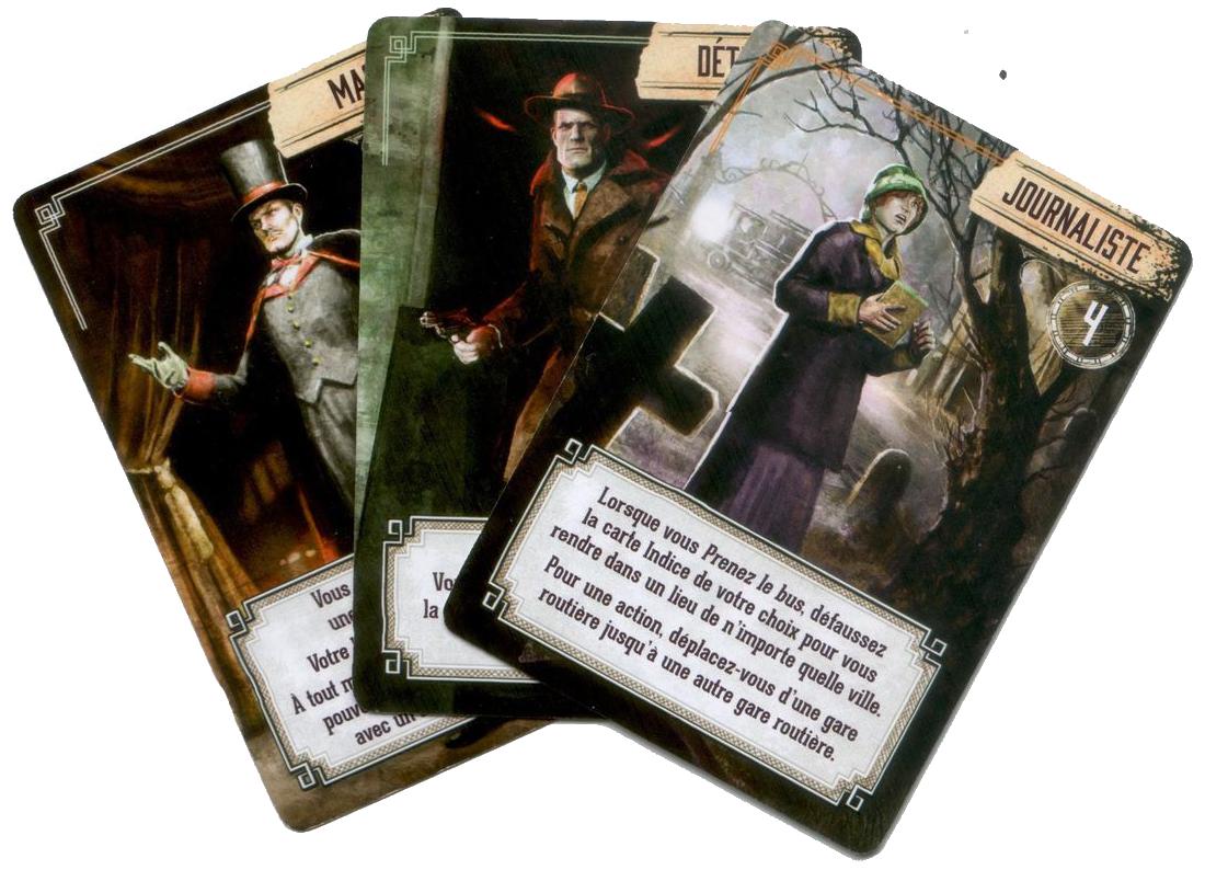 Pandemic, Le Règne de Cthulhu, cartes Personnage, saints d'esprits © Filosofia