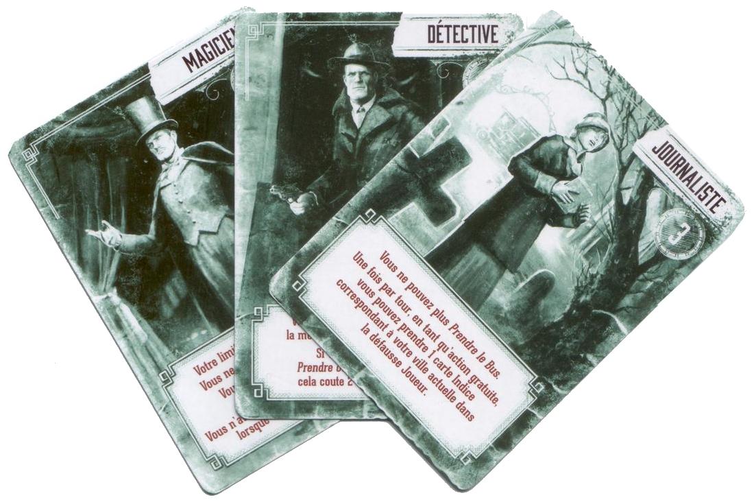 Pandemic, Le Règne de Cthulhu, cartes Personnage, aliénés © Filosofia