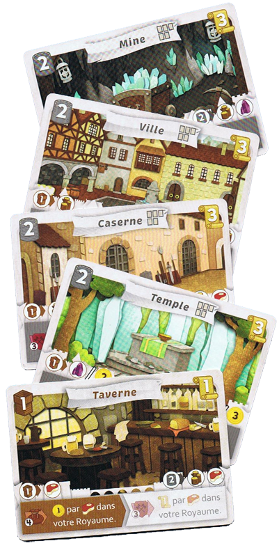 Paper Tales, cartes Bâtiment © Catch Up Games / Alcouffe