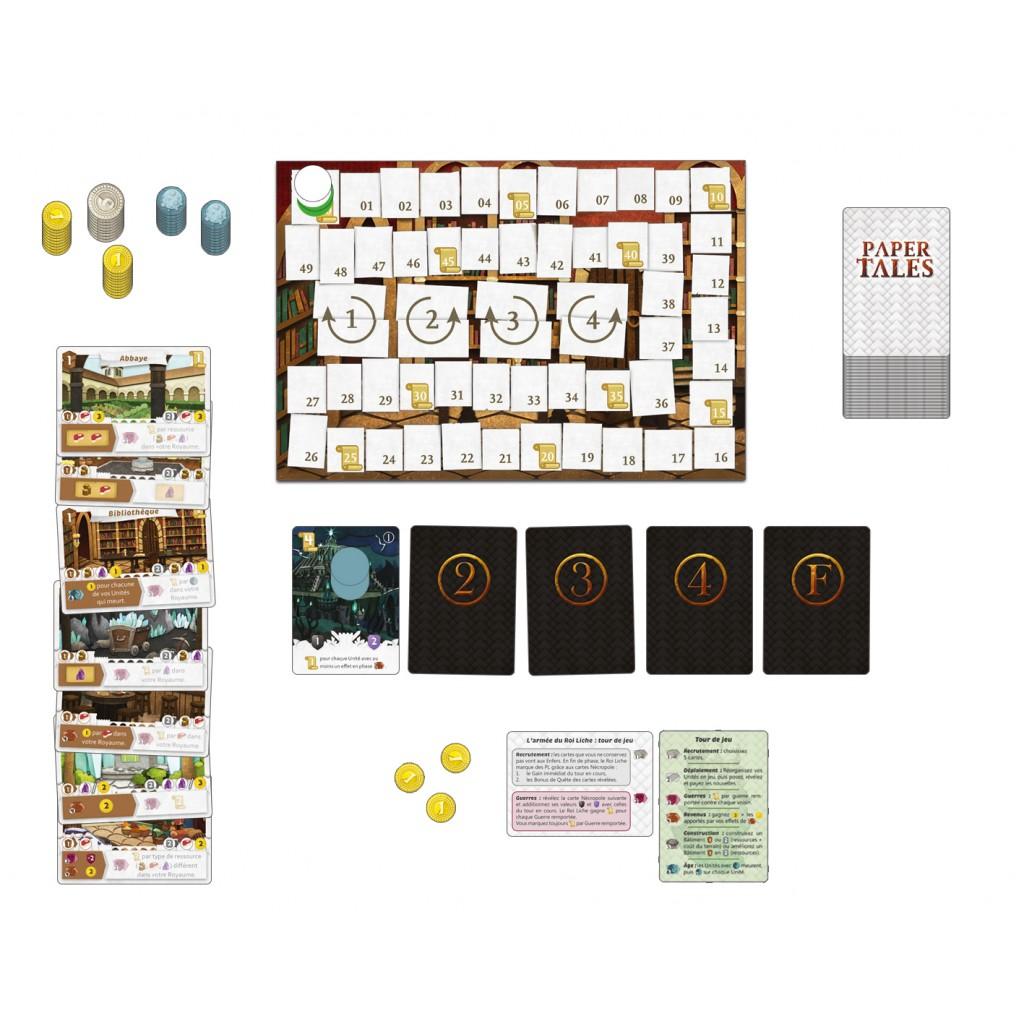 Paper Tales, Au Delà des Portes, une partie en solo... © Catch Up Games / Alcouffe / Uesugi