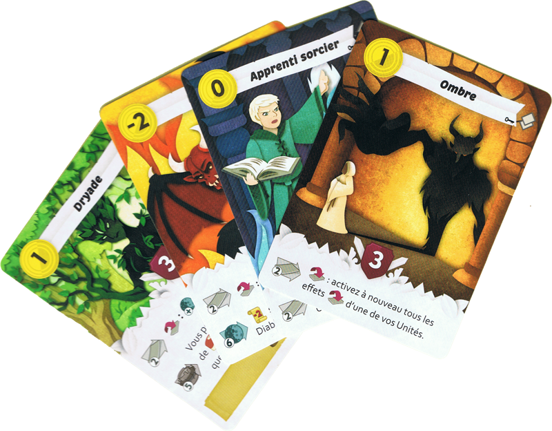 Paper Tales, Au Delà des Portes, cartes unités © Catch Up Games / Alcouffe / Uesugi