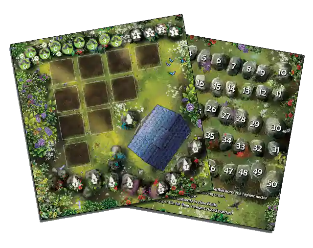 Papillon, Plateau réversible © Kolossal Games France  / Rader / Howell
