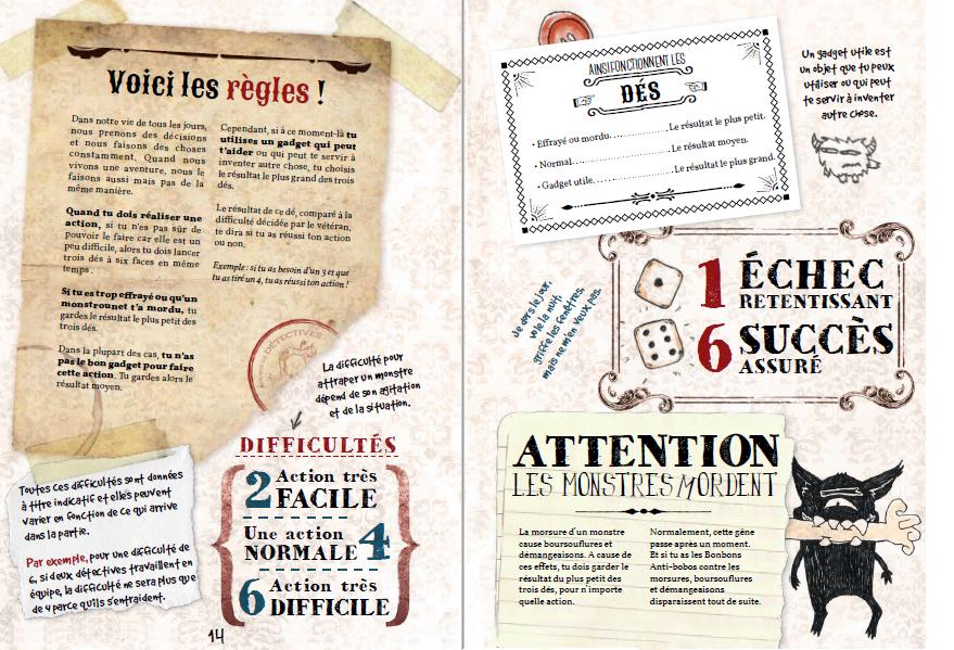 Petits Détectives de Monstres, page du livre © La Loutre Rôliste / Corcin / de Blas