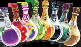 Potion Explosion, des potions, nuancier de potions © EDGE / Ghigini