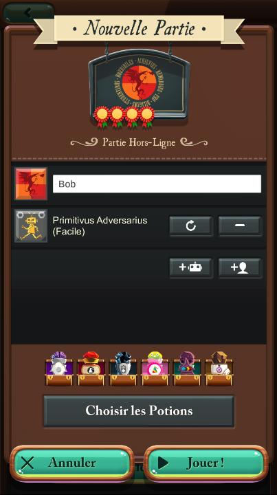 Potion Explosion, capture d'écran de l'appli Android
