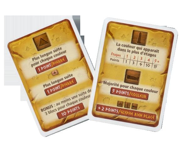 Pyramids, cartes aides de jeu © Iello