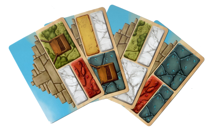 Pyramids, quelques cartes construction © Iello