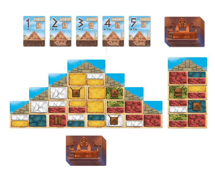 Pyramids, nécropole en cours de construction © Iello