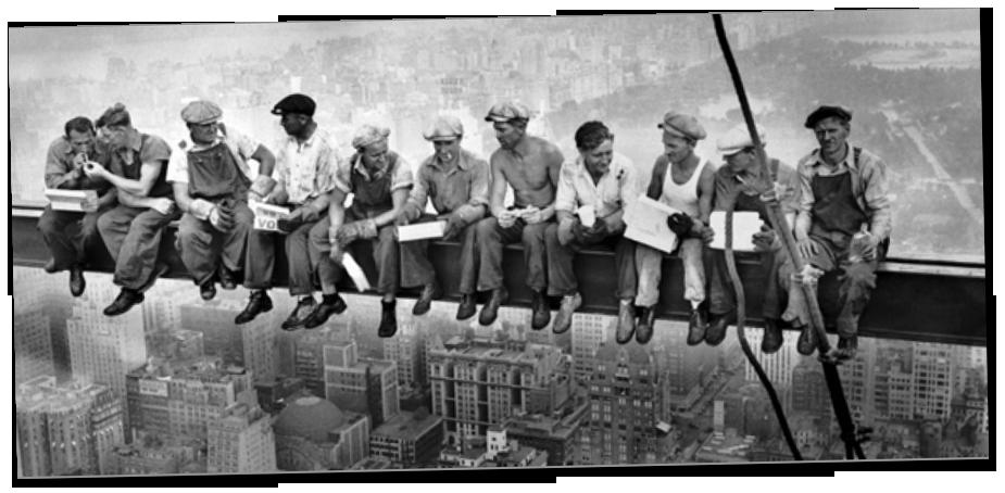 Skyliners, Lunch atop a skyscraper © Filosofia