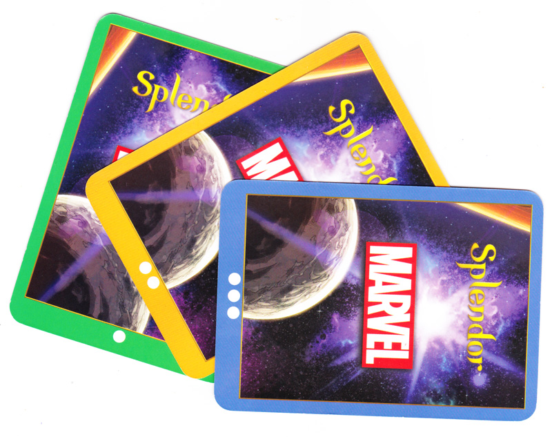 Splendor Marvel, le dos des cartes... © Space Cowboys / Marvel