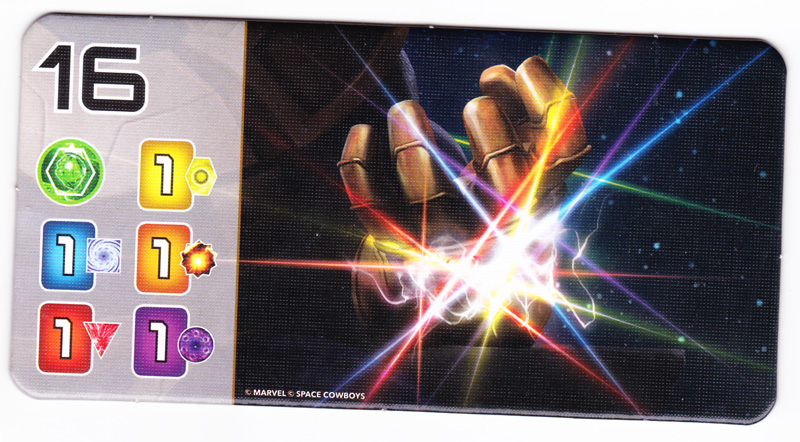Splendor Marvel, 1 tuile Gant de l'Infini © Space Cowboys / Marvel