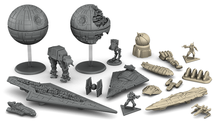 Star Wars : Rebellion, quelques figurines © FFG