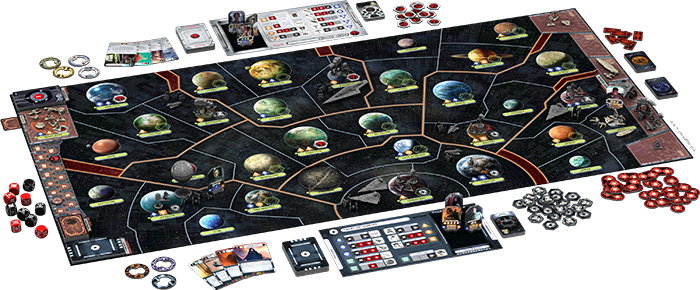Star Wars : Rebellion, partie en cours © FFG