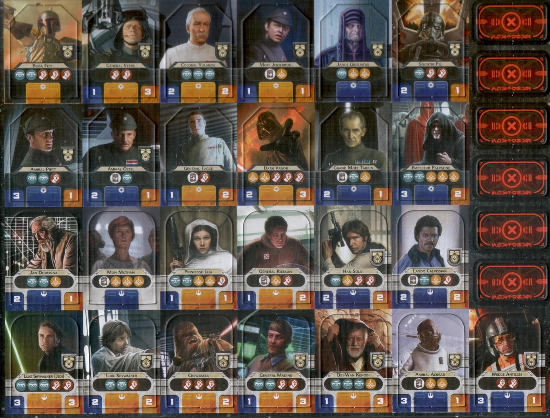 Star Wars : Rebellion, planche de Héros © FFG