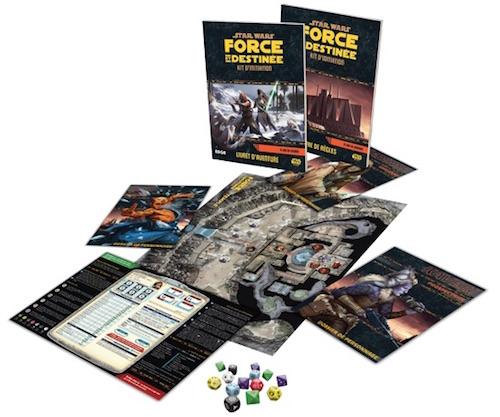 Star Wars : Force et Destinée, Kit d'initiation, aperçu du matériel © Edge