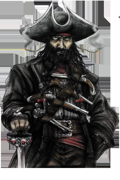 Terres Pirates, Barbe Noire © Roussignol Edition / Bécasse