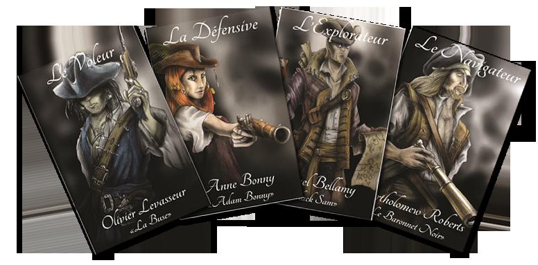 Terres Pirates, Cartes Personnage © Roussignol Edition / Bécasse