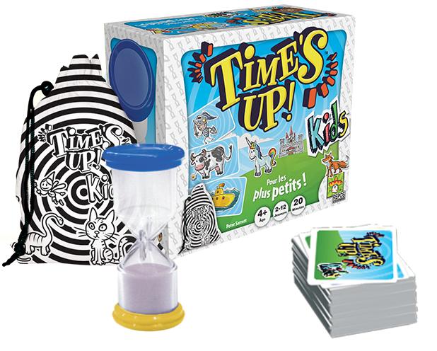 Time's Up Kids, aperçu du matériel © Asmodée
