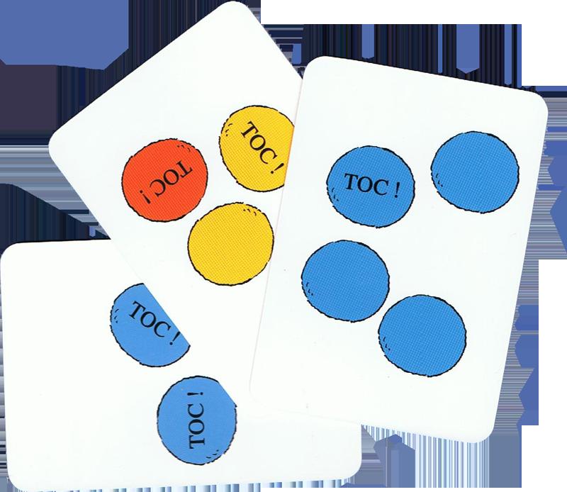 Toc! Toc! Toc!, cartes Toc! © Ecole des Loisirs / Geoffroy de Pennart