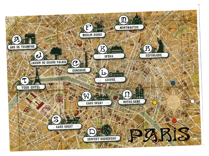 Unlock ! Timeless Adventures, le plan de Paris © Les Space Cowboys