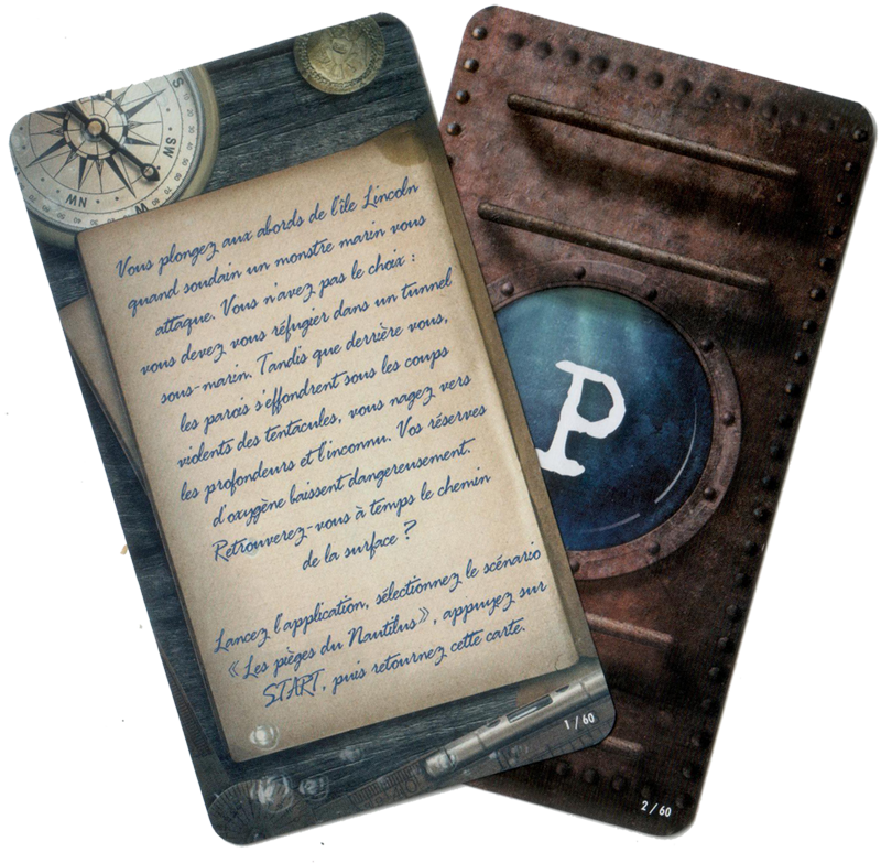 Unlock ! Mystery Adventures, aperçu du deck du scénario 2 © Space Cowboys