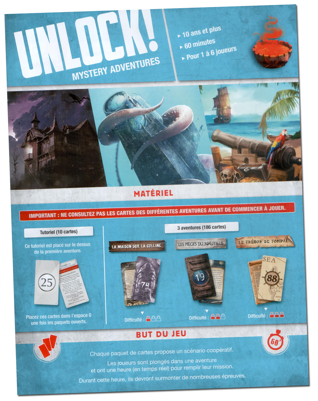 Unlock ! Mystery Adventures, le livret de règles © Space Cowboys
