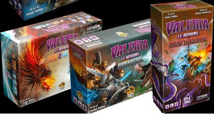 Valeria : Le Royaume, les extensions © Mihajlo Dimitrievski / Isaias Vallejo / Lucky Duck Games