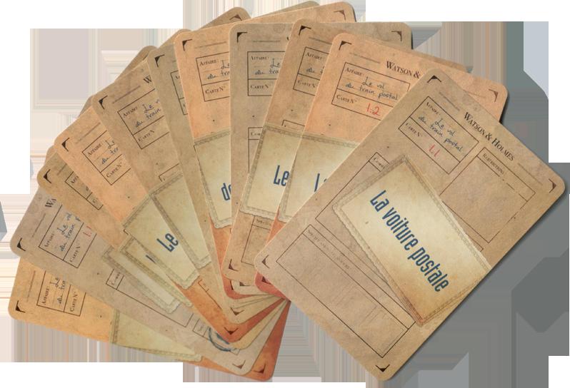 Watson, les cartes Piste de la première enquête © Space Cowboys