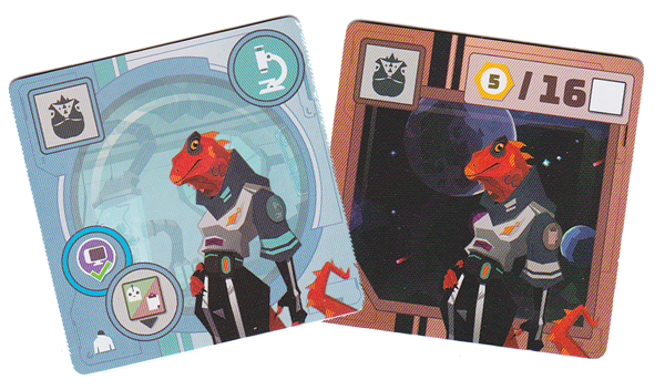 Wild Space, un équipage Reptiliens © Catch Up Games / Guinet / Thôme