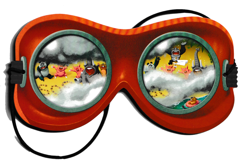 Yum Yum Island, les lunettes de pilote de l'escadrille © Sapce Cow / Loïs / Escoffier