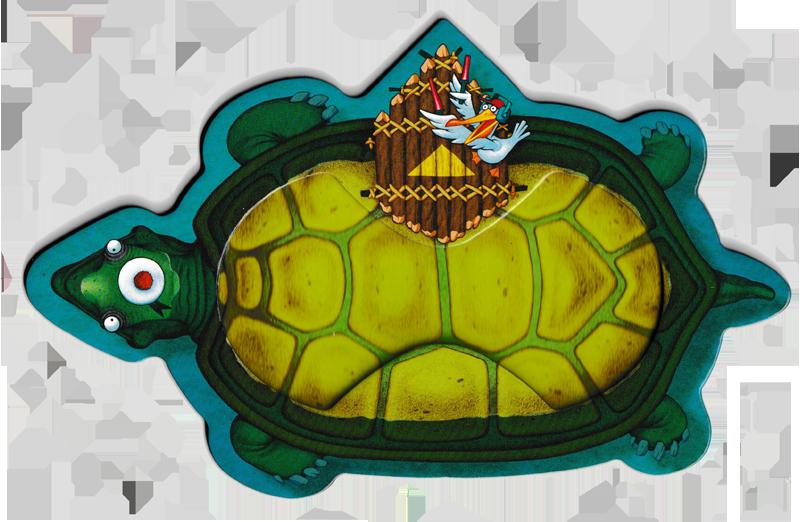 Yum Yum Island, la tortue porte-pélicans © Sapce Cow / Loïs / Escoffier