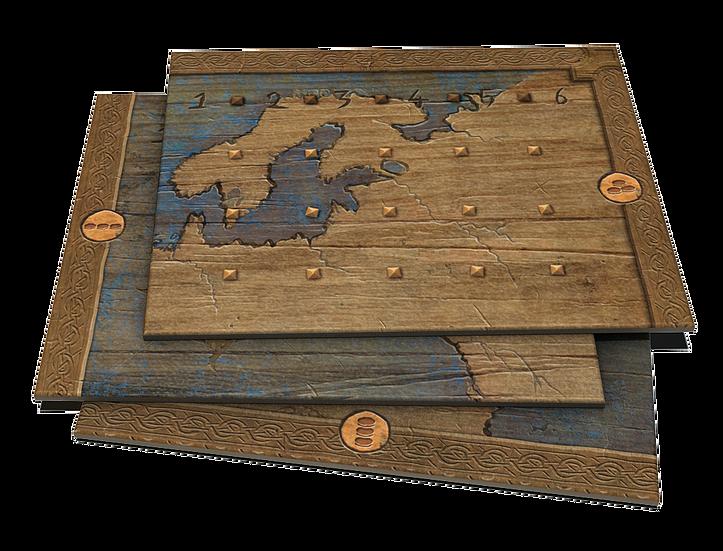 Lindisfarne, fragments de cartes... © Rune Editions / Ann & Seb / Pradet / Fleury