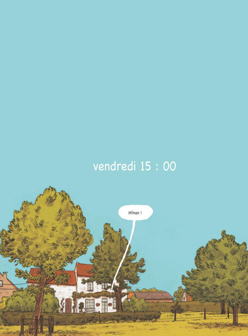 44 après Ronny, planche de l'album © Glénat / Olbrechts