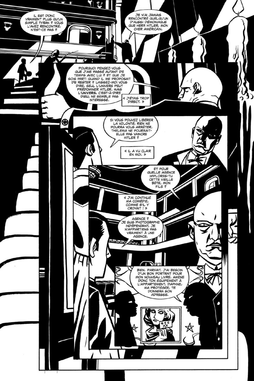 Aleister & Adolf, planche de l'album © Wetta worldwide / Oeming / Rushkoff